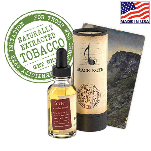 10ml Black Note Forte Naturally Extracted Tobacco