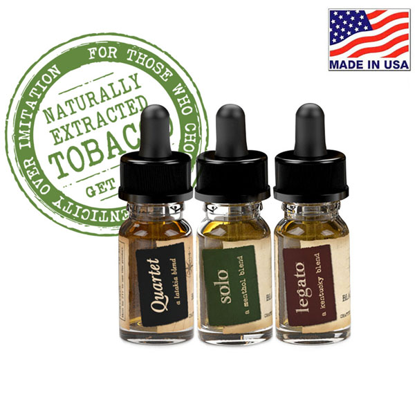 10ml Black Note Naturally Extracted Tobacco (3本セット)