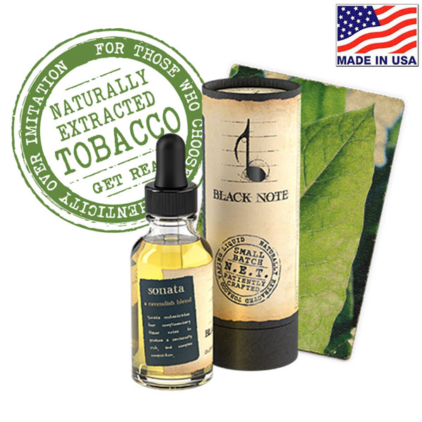 10ml Black Note Sonata Naturally Extracted Tobacco
