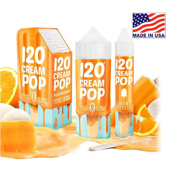 120ml Mad Hatter Cream Pop E-liquid