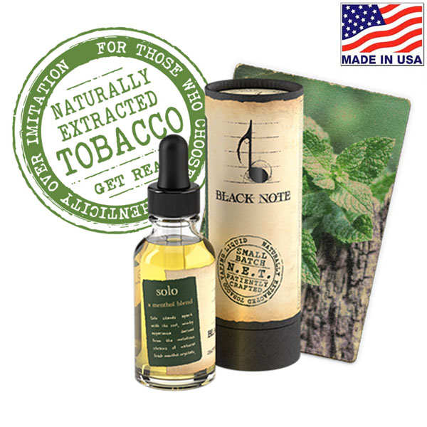 10ml Black Note Solo Naturally Extracted Tobacco