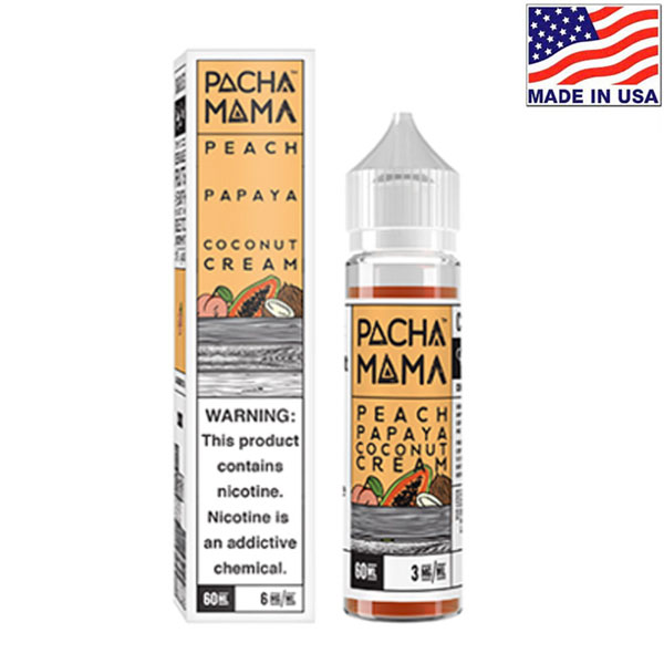 60ml Charlie's Chalk Dust Pacha Mama Peach Papaya Coconut Cream
