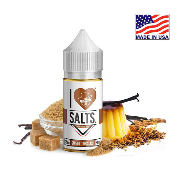 30ml Mad Hatter I Love Salts Sweet Tobacco